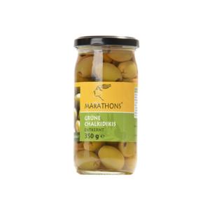 MARATHONS® Grüne Chalkidikis Oliven, mit Kern, 355g, Glas